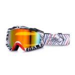 Очки кросс/снегоход/сноуборд NORTH WOLF 919 зебра линза зеркальная