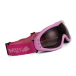 Очки горные лыжи/сноуборд/снегоход NORTH WOLF 832 розовые тонированные