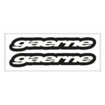 """Наклейка """"GAERNE"""" 10*24см"""