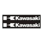 "Наклейка ""KAWASAKI ""K"" BLACK"" белая 9*24см"