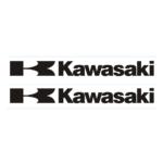 "Наклейка ""KAWASAKI ""K"" WHITE"" черная 9*24см"