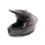 Шлем кроссовый ATAKI MX801 Solid оранжевый/черный матовый