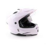 Шлем мотард ATAKI FF802 Solid белый глянцевый